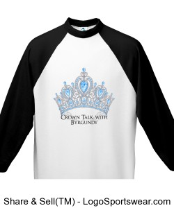 Crown Talk Official Youth 3/4 Sleeve 50/50 Raglan Sleeve Shirt Design Zoom
