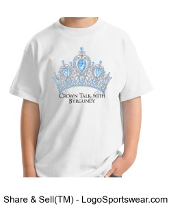 Crown Talk Official Gildan Youth T-shirt Design Zoom