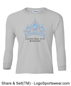 Crown Talk Official 100% Heavyweight Ultra Cotton Long Sleeve Youth Tshirt Design Zoom
